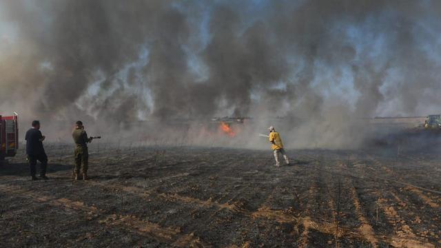Пожары вследствие огненного терора из Газы. Фото: TPS
