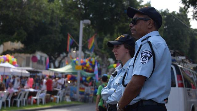 פעילות משטרת ישראל במצעד הגאווה בתל אביב (צילום: דוברות המשטרה )