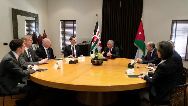 Jordan's King Abdullah meets with Senior White House Advisor Jared Kushner in Amman, Jordan, May 29, 2019