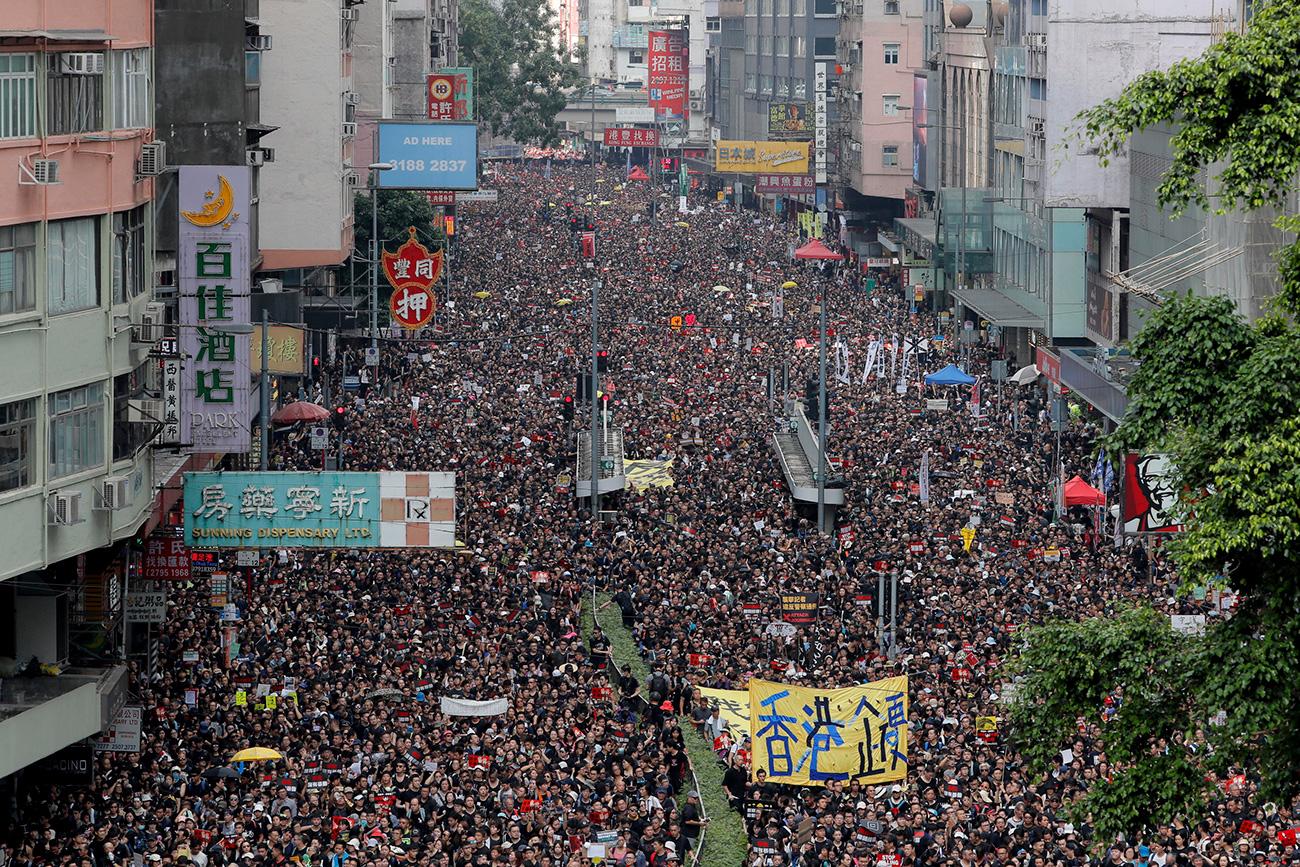 הונג קונג קארי לאם מנהיגה מפגינים הפגנה חוק הסגרה סין (צילום: AP)