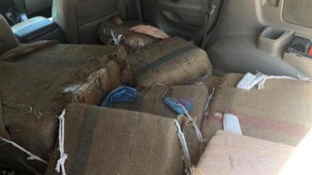 תפיסת סמים בגבול מצרים (צילום: דוברות המשטרה)