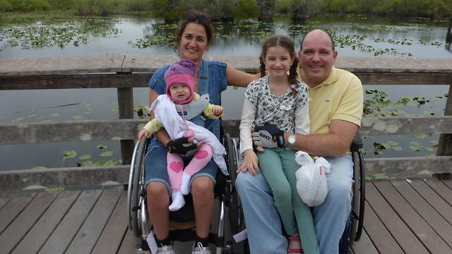 סיגל ומשפחתה בטיול בארה