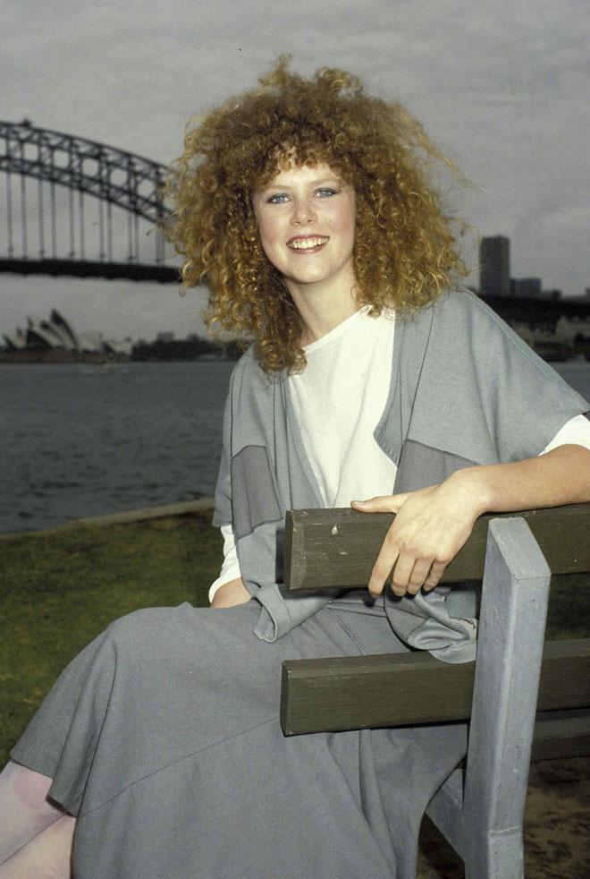 בראשית הקריירה: קידמן מתולתלת בשנת 1983 (צילום: Patrick Riviere/GettyimagesIL)