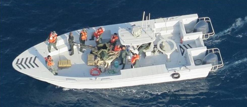 תיעוד אמריקני ממסוק צבאי של סירת משמרות המהפכה, לאחר שלדברי ארה