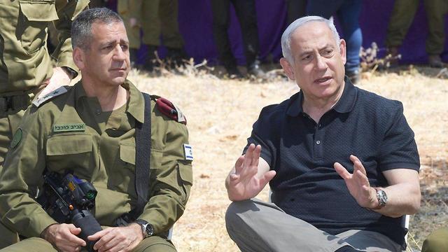 Netanyahu with IDF Heads of State Aviv Kochavi (Photo: GPO)