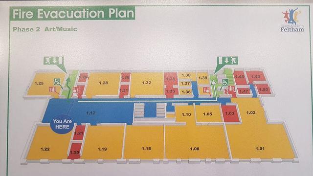 תכנון של בית ספר ללא דלתות בשירותים שנציגי מנהל חינוך של עיריית תל אביב ראו במהלך הסיור שלהם בלונדון ()