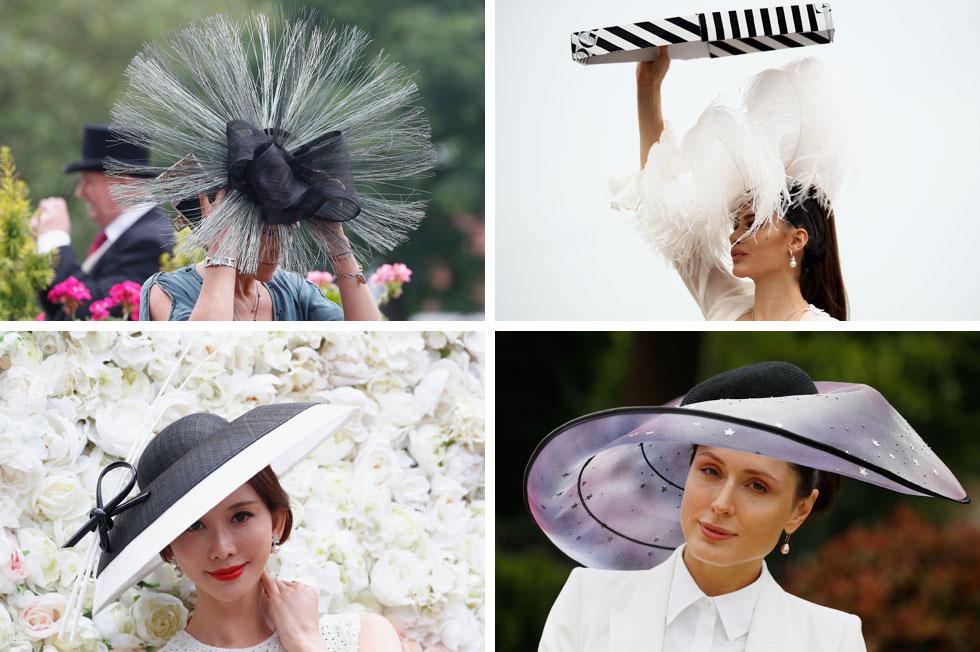 החיבור העל-זמני של שחור ולבן בלט בכובעים רבים של הצופות במרוצים, בין אם ככובע אובלי במראה פוטוריסטי עם הדפס כוכבים שחורים, או הכובע האלגנטי שחבשה השחקנית הטייוואנית לין צ'י-לינג, שהזכיר לנו את הכובע של אל פנינג בעיצוב דיור מפסטיבל קאן  (צילום: Bryn Lennon/GettyimagesIL, AP)