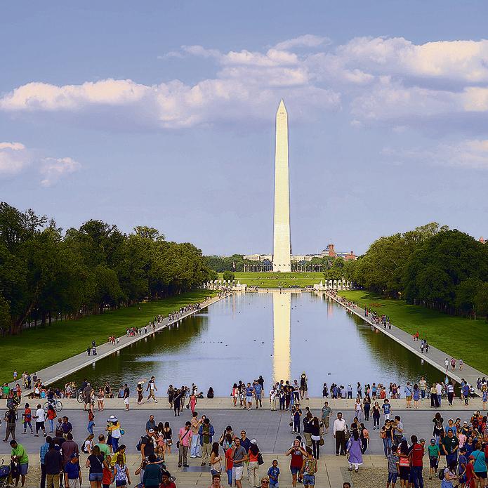 בריכת ההשתקפות. ליד אנדרטת לינקולן