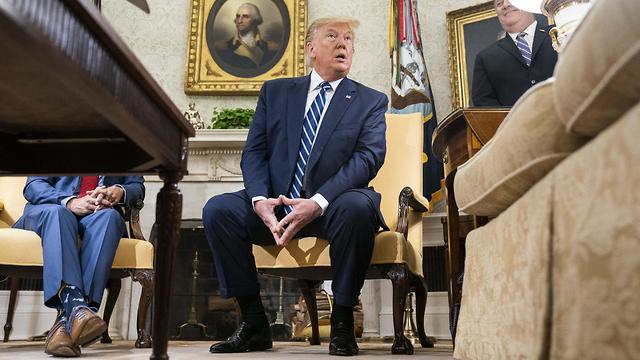 דונלד טראמפ מתייחס להפלת המל