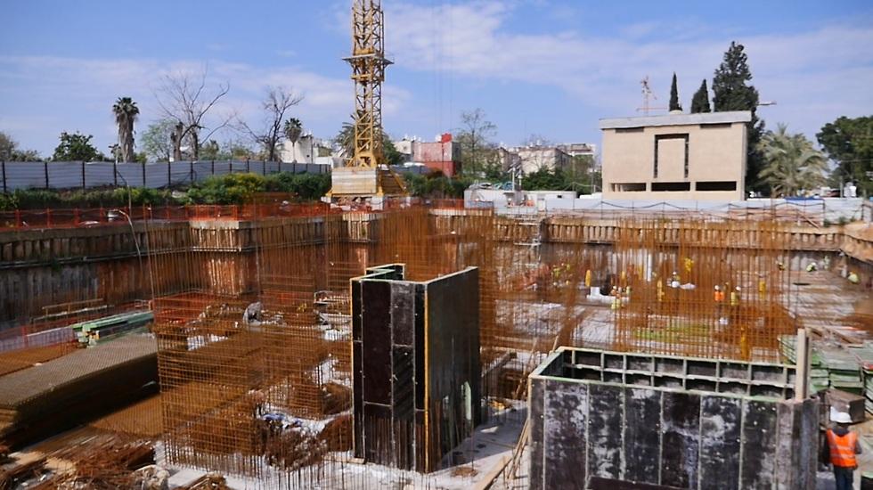 הבנייה החלה (צילום: ירון שרון)