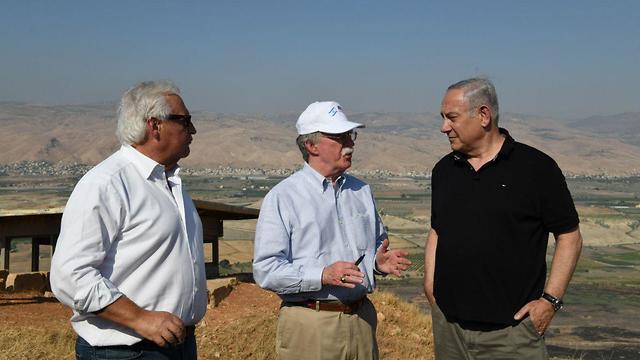 Prime Minister Netanyahu and John Bolton visit Jordan Valley  (Photo: GPO)
