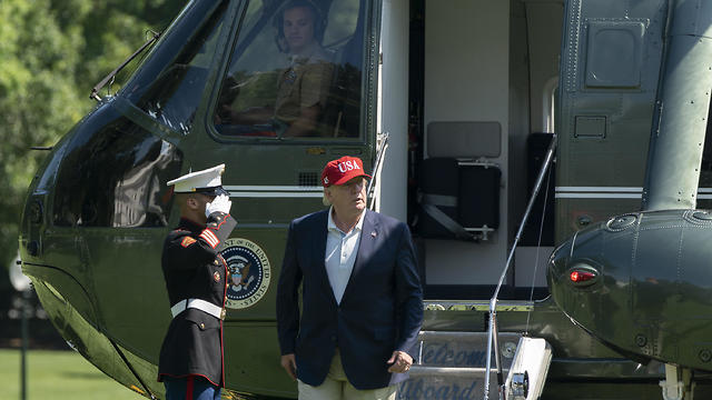 Le président Donald Trump revient de Camp David à la Maison Blanche (Photo: EPA)