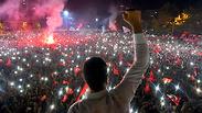 חגיגות ניצחון ב איסטנבול (צילום: AP)