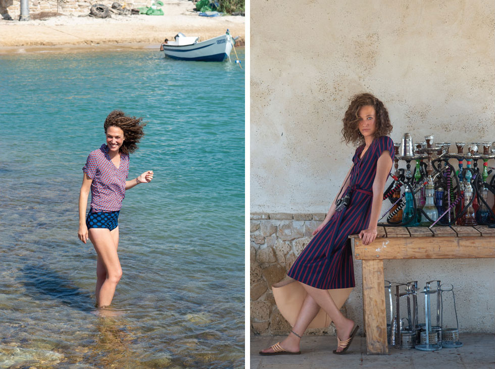 """""""החוף פה הוא אחד היפים בישראל, אם לא היפה ביותר"""" (צילום: מירי דוידוביץ, סטיילינג:  דור מרדכי)"""