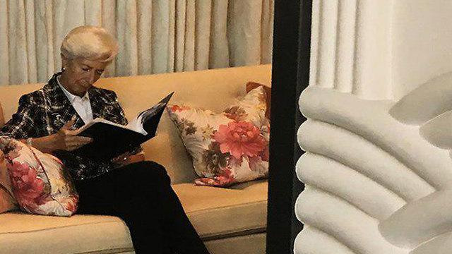 IMF chief Christine Lagarde in Bahrain, June 25, 2019