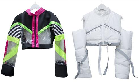 """""""מעצבי האופנה נטף הירשברג וינקי גוליאן מעצבים לי את בגדי ההופעות. זה אחד הלוקים מהקליפ החדש שלי, בצבעי ניאון מאוד אופנתיים"""" (צילום: ענבל מרמרי)"""
