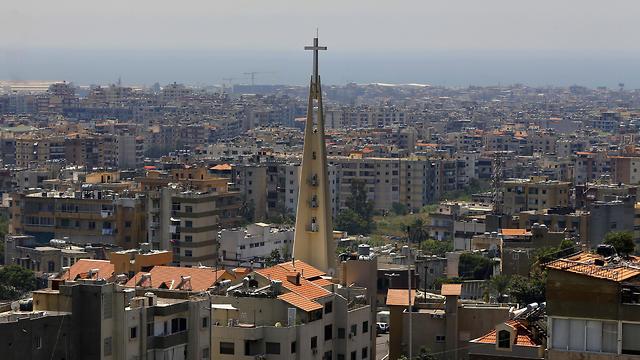 Overlooking the village of Hadat