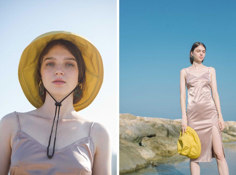 שמלה, עדיקה | כובע, ג'סטין | עגילים, H&M (צילום: הילה כדי)