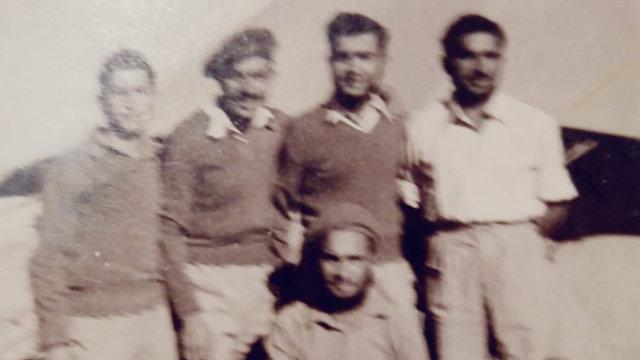 David Ashri, bottom, during captivity