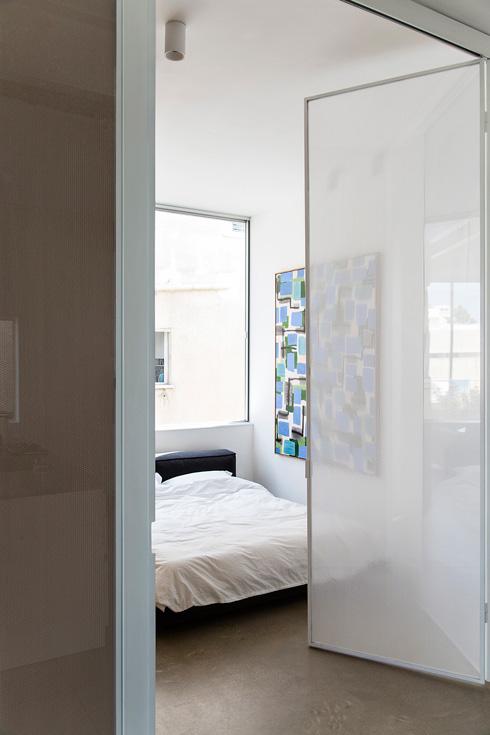 מחיצת אקורדיון לחדר השינה (צילום: BELLER)