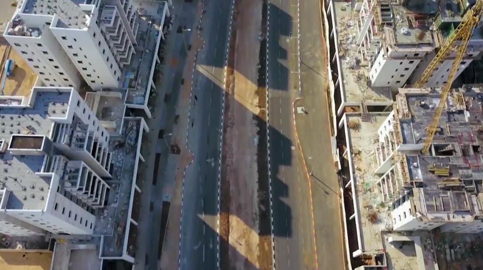 העיר חריש מלמעלה (צילום: מור שקיפי לאטי)