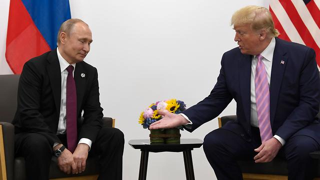 דונלד טראמפ ולדימיר פוטין מפגש פסגה פסגת G20 יפן (צילום: AP)