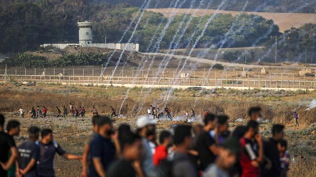 Weekly riots along the Israel-Gaza border (Photo: AFP)