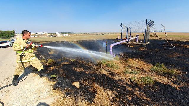 Incendiary balloons cause fire in Israeli towns bordering the Strip (Photo: Roee Idan)