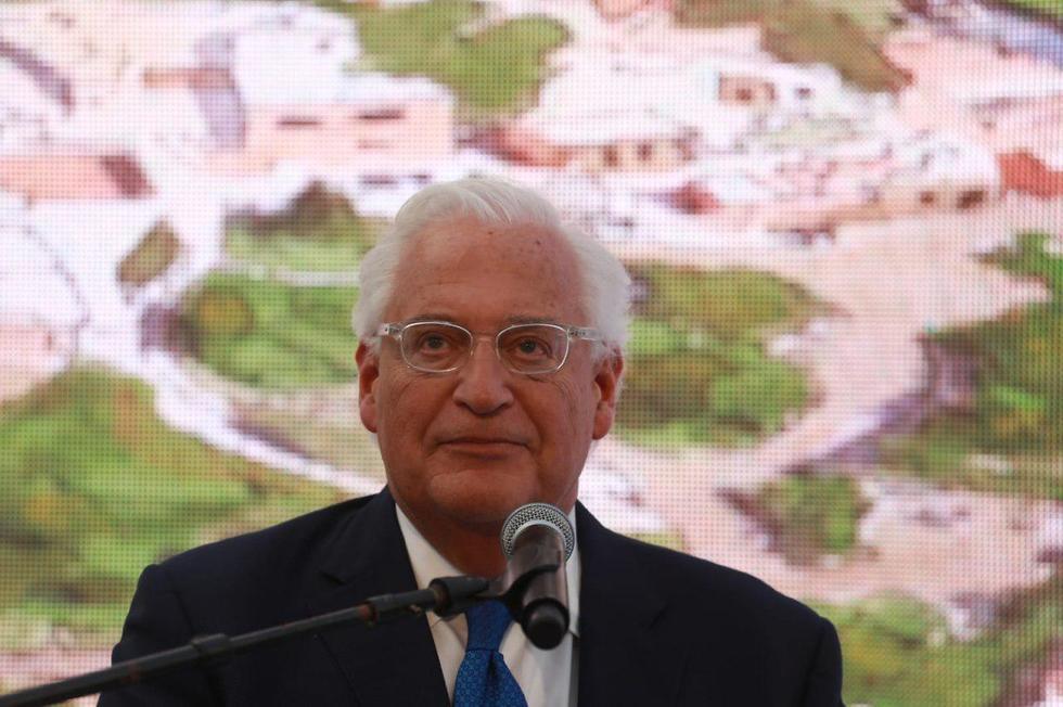 U.S. Ambassador David Freidman at inauguration of archiological site in e. Jerusalem (Photo: Ohad Zwigenberg)