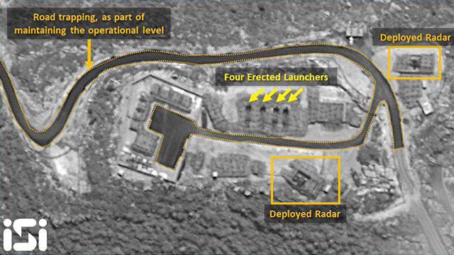 צילום לוויין של משגר טילים S-300 פרוס בסוריה (צילום: ImageSat Intl)