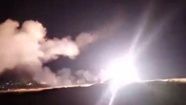 שיגור טילי יירוט ממערכות ההגנה האווירית של סוריה ()
