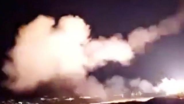 שיגור טילי יירוט ממערכות ההגנה האווירית של סוריה (צילום: רויטרס)