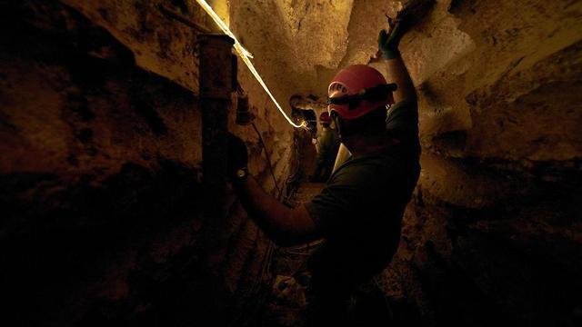 איטום מנהרת חיזבאללה מבצע מגן צפוני (צילום: דובר צה