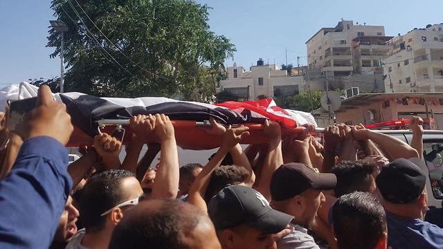 The funeral for Muhammad Abeid, who was killed by police in June