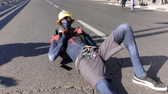 Ethiopian demonstration in Azrieli (Photo: Yariv Katz)