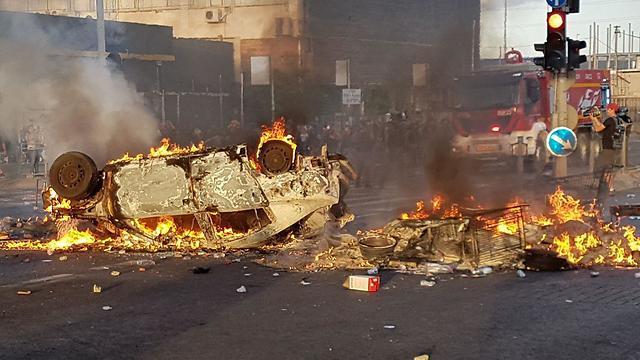 Инцидент в Кирьят-Атe. Фото: Хасан-Шаалан