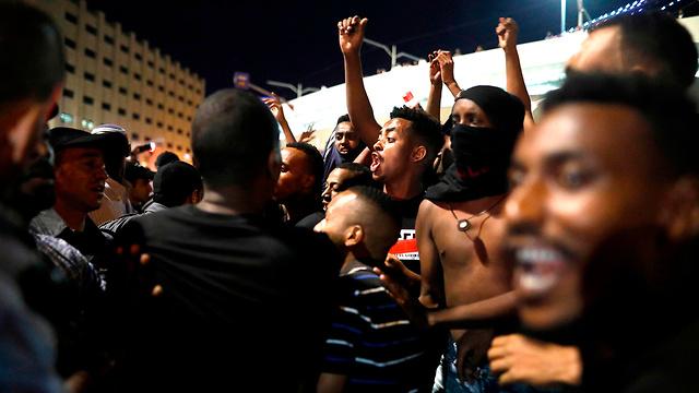 הפגנת העדה האתיופית בירושלים (צילום: AFP)