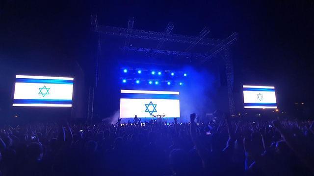 הופעה דיסטרב ישראל (צילום: רז גרוס)