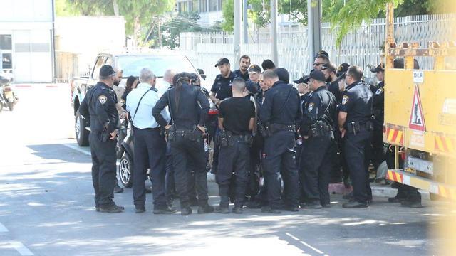 Полиция на перекрестке Азриэли. Фото: Моти Кимхи (Photo: Moti Kimchi)