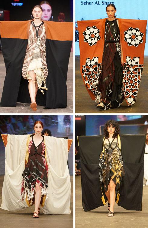 פארס ויזל. שמלות שנוצרו מכאפיות ושילוב בין דו-ממד לתלת-ממד (צילום: רפי דלויה)