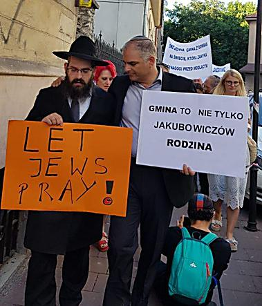 הרב אליעזר גור אריה בהפגנה (צילום: שלומי שקד)
