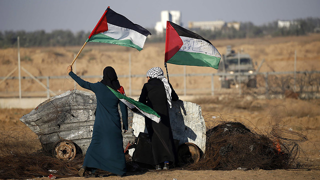 Riots along the Israeli Gaza border (Photo: AFP)
