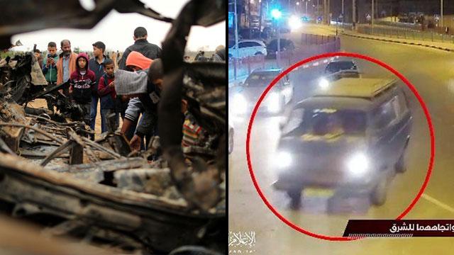 רכב הושמד פיצוץ תקרית רצועת עזה חאן יונס סא