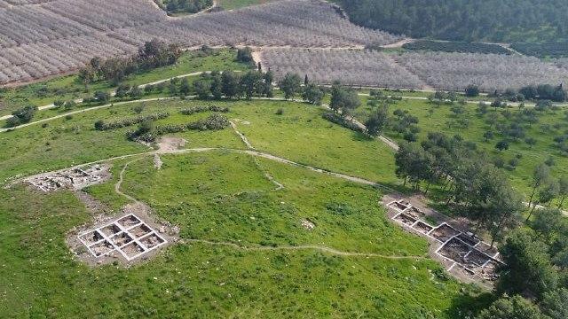 Aerial footage of the site (Photo: Israel Antiquities Authority) (Photo: Emil Eljam, Antiquities Authority)
