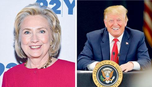 לפי בדיחה נפוצה, טראמפ ניצח את קלינטון בבחירות בזכות השיניים המושקעות שלו (צילום: Adam Bettcher ,Mike Coppola/GettyimagesIL)