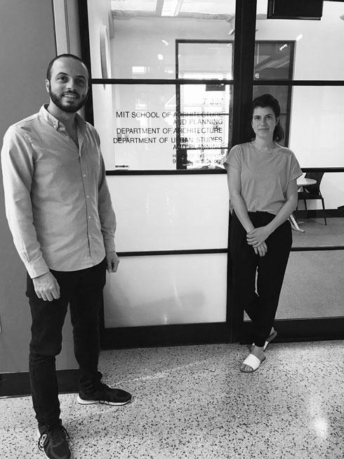 הורוביץ (מימין) וחראז ב-DesignX MIT, בוסטון (צילום: מוהנד חראז)
