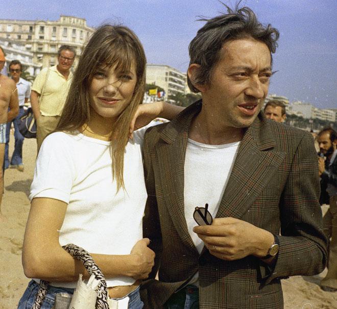 את שנות ה-70 הצרפתיות היא העבירה בצמידות לסרז' גינזבורג, האיש שהיה 100 אחוז כריזמה (צילום: AP)