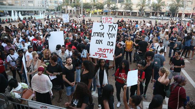 מחאת יוצאי אתיופיה בכיכר רבין בתל אביב (צילום: דנה קופל)