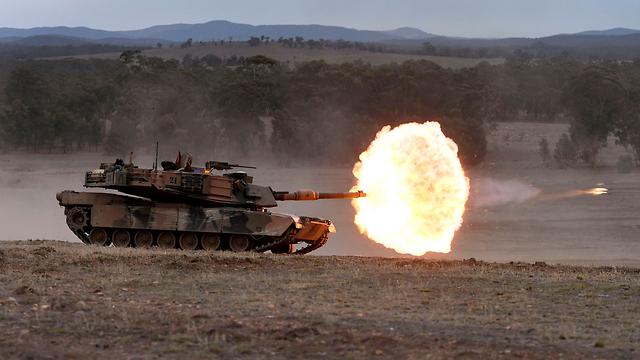 טנק אוסטרליה אימון צבאי (צילום: AFP)