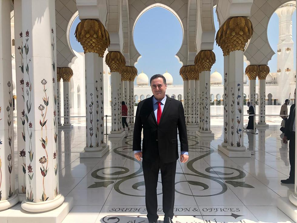 Foreign Minister Israel Katz in Abu Dhabi in July